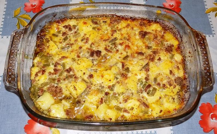 Pasticcio di carne con fagiolini e patate