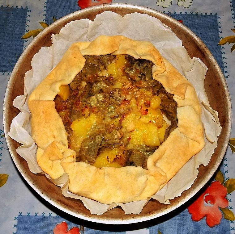 Tortino patate, carciofi e cipolle