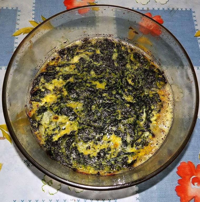Frittata cipolle e spinaci al forno