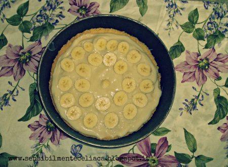 Crostata al cioccolato e banane, senza glutine e senza lattosio