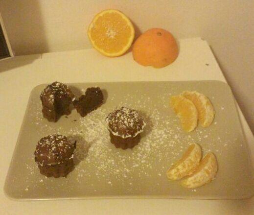 cuore di cioccolato all'arancia