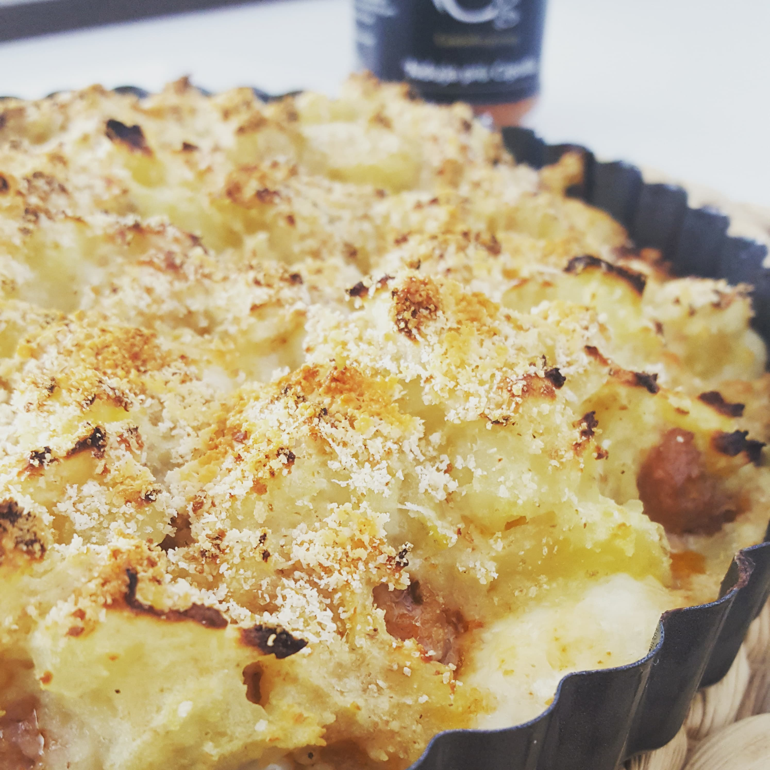 Sbriciolata di Patate con Salsiccia