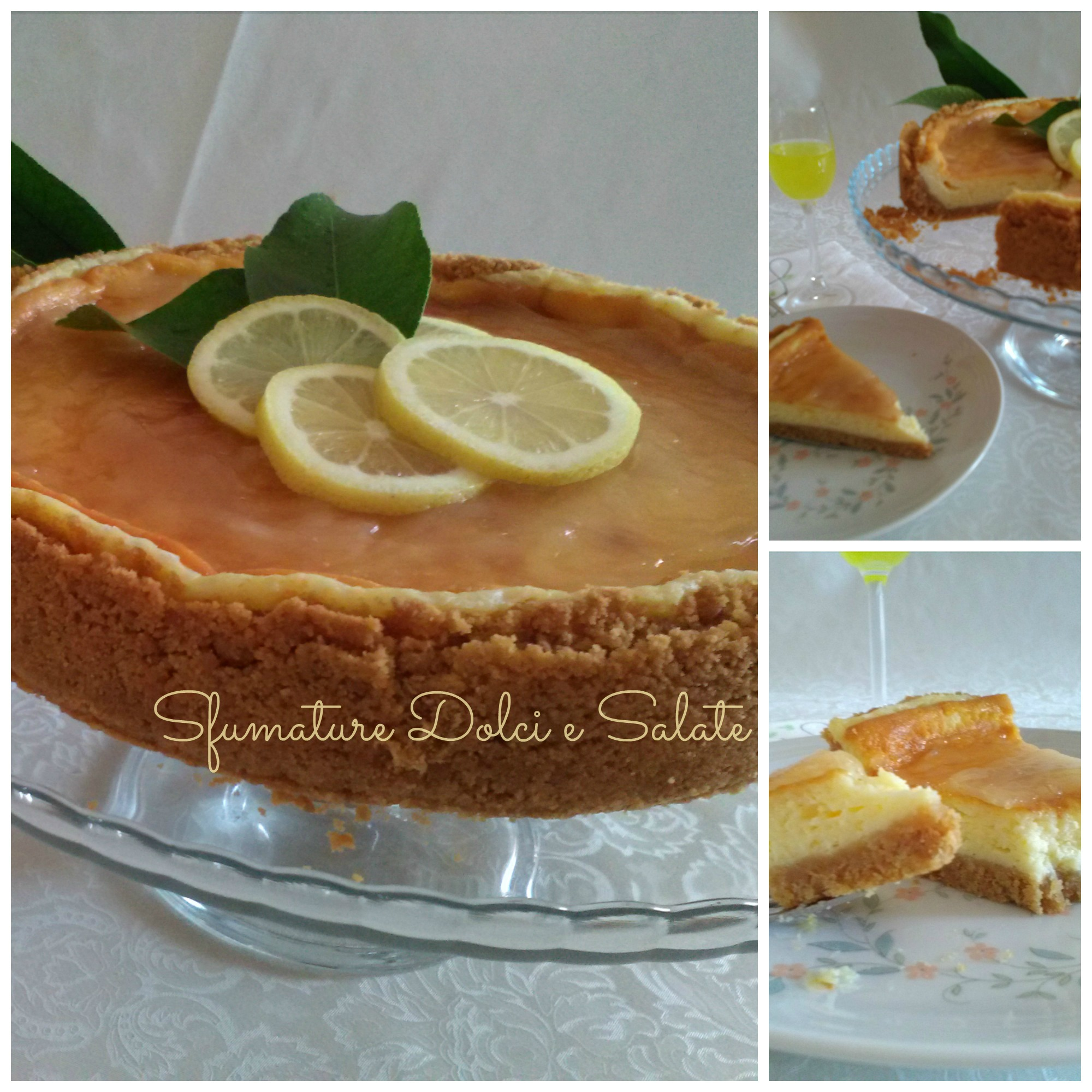 CHEESECAKE AL LIMONE cotta in forno