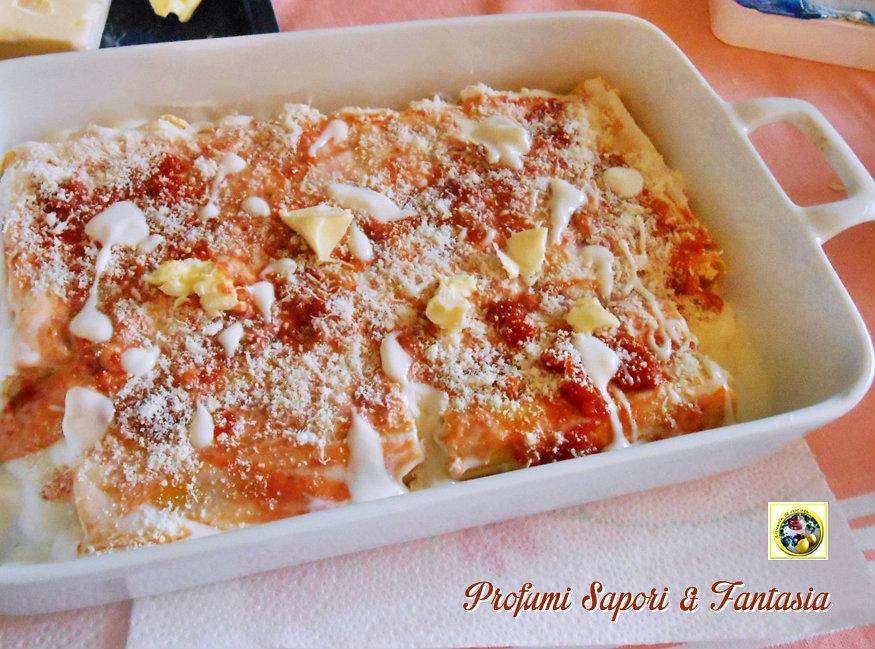 Cannelloni al prosciutto cotto ricotta e mascarpone Blog Profumi Sapori & Fantasia