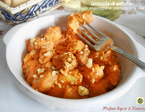 Gnocchi di patate con mascarpone pomodoro e noci