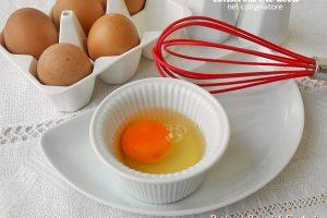 Conservare le uova nel congelatore
