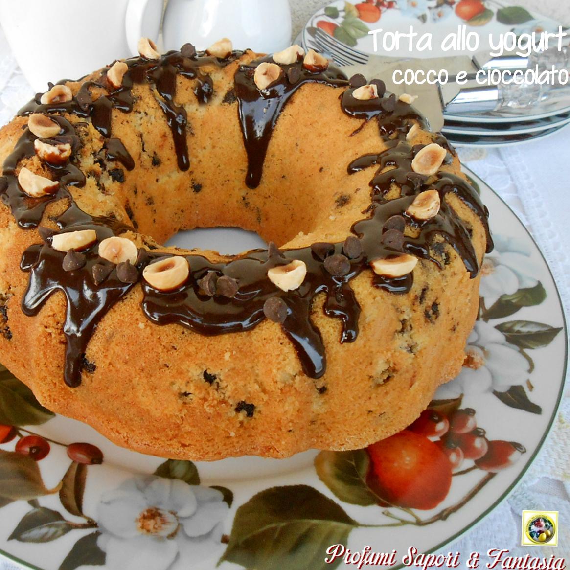 Torta allo yogurt cocco e cioccolato Blog Profumi Sapori & Fantasia