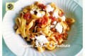 Tagliatelle alla ricotta con pomodori al basilico