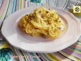 Spaghetti alla chitarra robiola e pistacchi