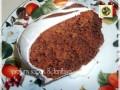 Torta di cioccolato e cocco glassata alla vaniglia