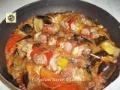 Spiedini di carne e verdure in umido