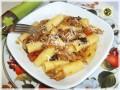Rigatoni con verdure gratinate e ricotta salata