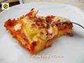 Lasagne di polenta ai formaggi e prosciutto