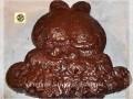Torta Garfield al cioccolato glassata