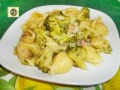 Pasta con broccoli gorgonzola e pancetta