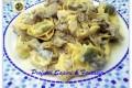 Tortelloni ricotta e spinaci con carciofi e gorgonzola