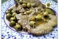 Braciole alle olive con zucchine grigliate