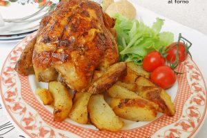 Pollo intero arrosto al forno