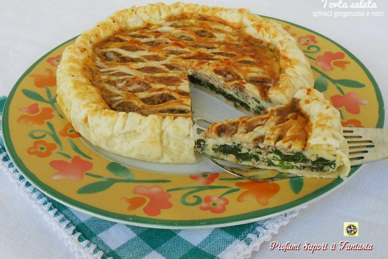 Torta salata con spinaci e gorgonzola
