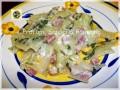 Coste bieta ricetta, saltate con pancetta e gorgonzola