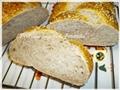 Treccia di pane semi integrale aromatica