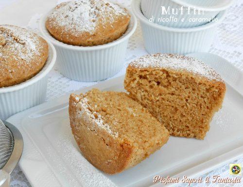 Muffin di ricotta e caramello