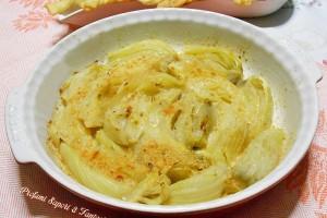 Finocchi in gratin con crema di parmigiano al curry