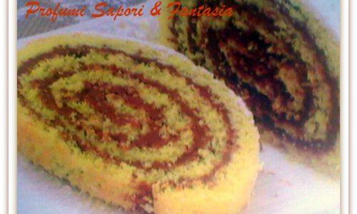 Rotolo di pasta biscotto alla Nutella