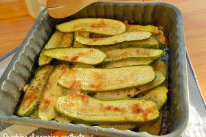 Zucchine al pecorino gratinate