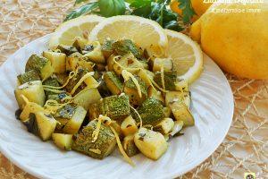 Zucchine trifolate al prezzemolo e limone