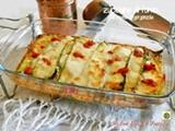 Zucchine al forno con crema di gorgonzola