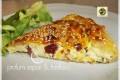 Pasticcio di sfoglia con formaggi salame e zenzero