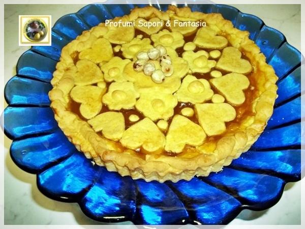 Crostata di pasta frolla alle nocciole con marmellata di pesca  Blog Profumi Sapori & Fantasia