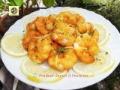 Gamberi in pastella al limone con timo