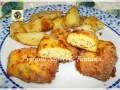 Quenelle di pollo con formaggio e mortadella al forno