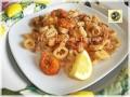 Fritto misto di calamari e gamberi