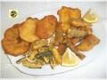 Fritto di pesce con verdure