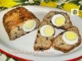 Polpettone tonno e patate al forno con uova sode