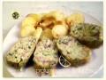 Polpettone ripieno, con patate scroccarelle