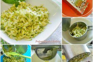 Zucchine grattugiate e asciutte pronte all'uso