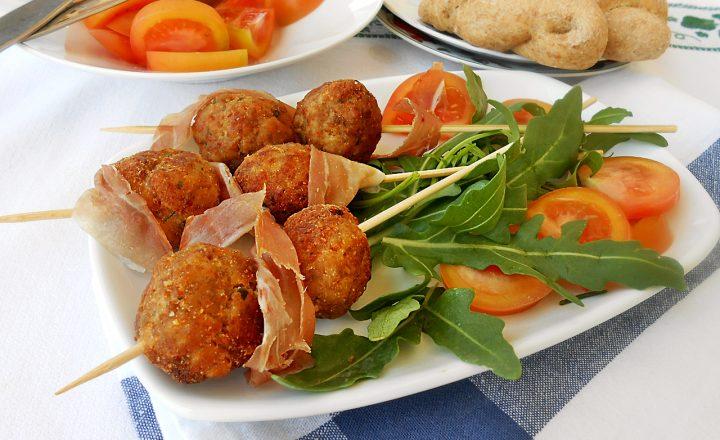 Crocchette di pollo ricotta e prosciutto