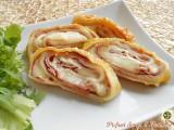 Rotolo di pasta sfoglia con prosciutto e formaggio