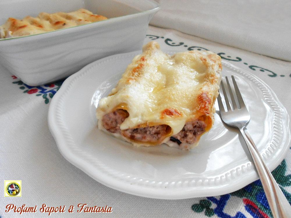 Cannelloni al radicchio e ricotta con prosciutto Blog Profumi Sapori & Fantasia