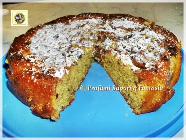 Torta allo yogurt ricetta con amarene e scaglie di cioccolato  Blog Profumi Sapori & Fantasia