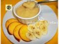 Crema alle pesche banane e yogurt