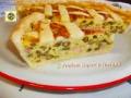 Torta salata ai porri prosciutto e fagiolini