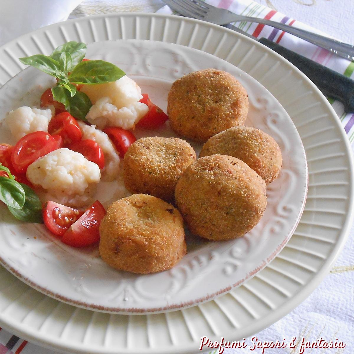 Polpette di cavolfiore salame e patate