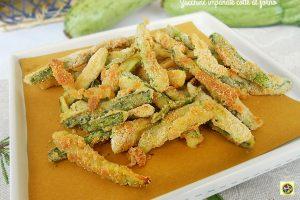 Zucchine impanate cotte al forno
