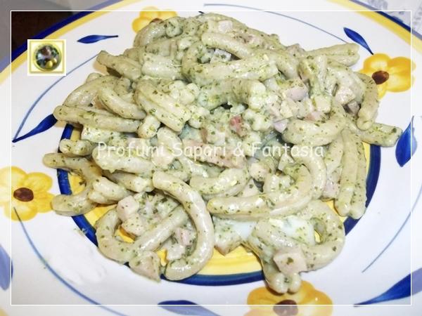 Pasta al Kamut con pesto prosciutto cotto e gorgonzola   Blog Profumi Sapori & Fantasia