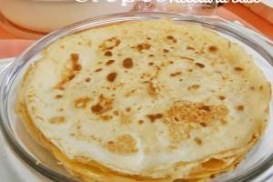 Crepes ricetta base Bimby e tradizionale